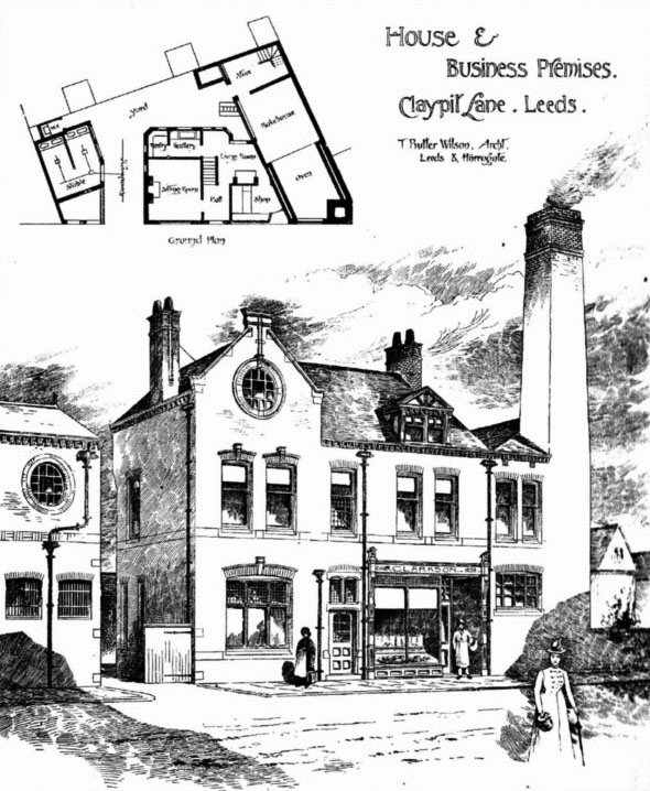 1888 &#8211; House &#038; Business Premises, Claypit Lane, Leeds, Yorkshire