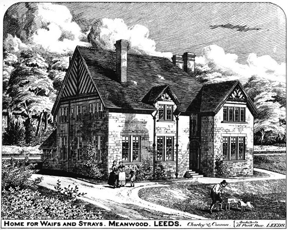 1886 – Home for Waifs & Strays, Meanwood, Leeds, Yorkshire