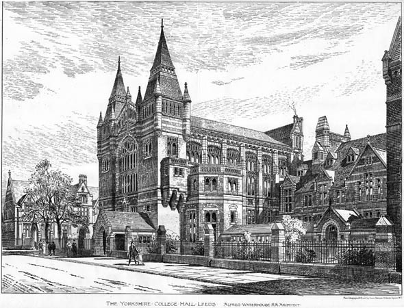 1892 &#8211; The Yorkshire College Hall, Leeds, Yorkshire