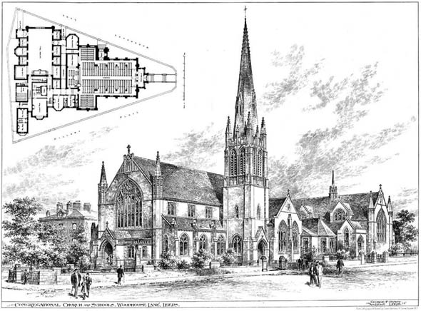 1901 – Congregational Church, Woodhouse Lane, Leeds, Yorkshire