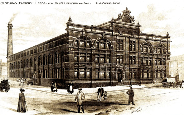 1884 – Clothing Factory, Wellington Street, Leeds, Yorkshire