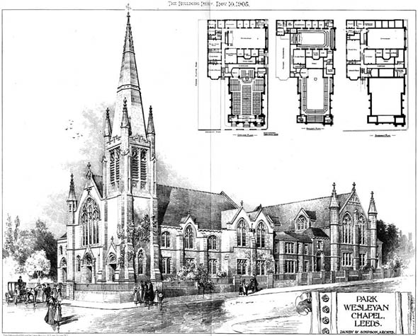 1905 &#8211; Park Wesleyan Chapel, Leeds, Yorkshire