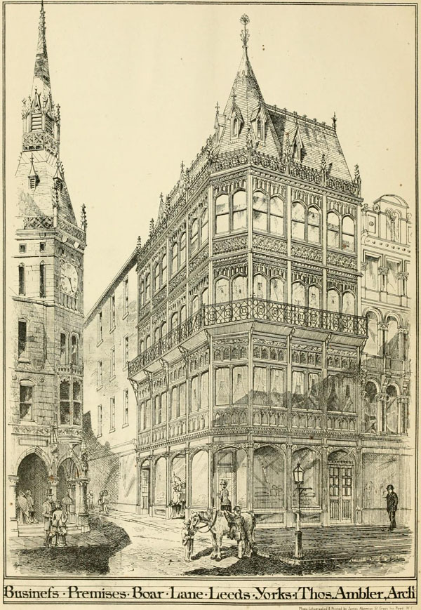 1873 – Premises, Boar Lane, Leeds, Yorkshire