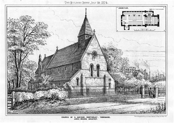 1874 &#8211; Church of St. Saviour, Mortomley, Yorkshire