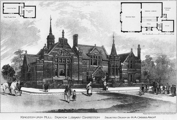 1894 &#8211; Branch Library, Kingston upon Hull, Yorkshire