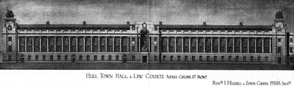 1908 – Hull Town Hall & Law Courts, Yorkshire