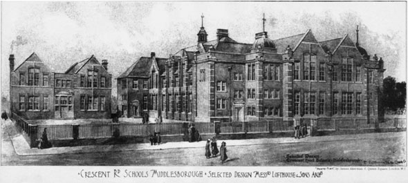 1905 &#8211; Crescent Road Schools, Middlesbrough, Yorkshire