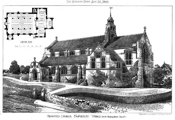 1900 &#8211; Proposed Church, Barnsley, Yorkshire