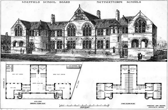 1873 &#8211; Netherthorpe Schools, Sheffield, Yorkshire