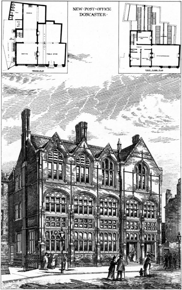 1888 &#8211; New Post Office, Doncaster, Yorkshire