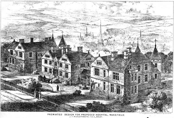 1876 &#8211; Proposed Hospital, Wakefield, Yorkshire