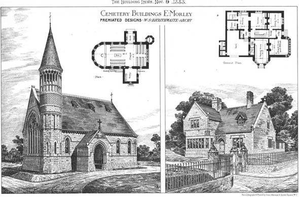 1883 &#8211; Cemetery Buildings, East Morley, Yorkshire