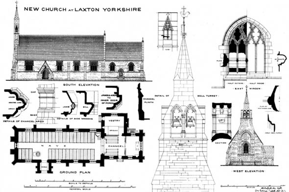 1875 – New Church at Laxton, Yorkshire