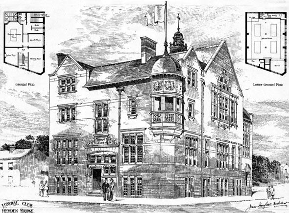 1899 – Liberal Club, Hebden Bridge, Yorkshire