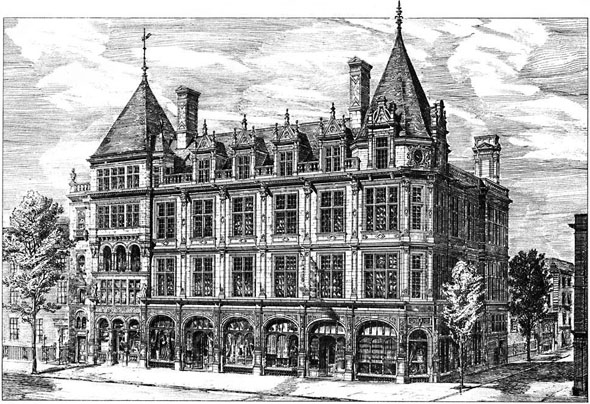 1885 &#8211; Business Premises at Scarborough, Yorkshire