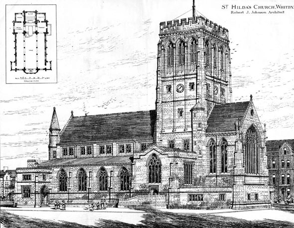1885 &#8211; St. Hilda&#8217;s Church, Whitby, Yorkshire