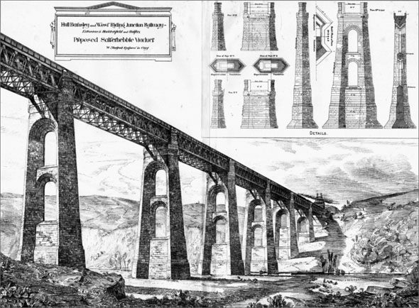 1884 – Proposed Salterhebble Viaduct, Halifax, Yorkshire