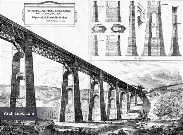 1884 – Proposed Salterhebble Viaduct, Halifax, Yorkshire