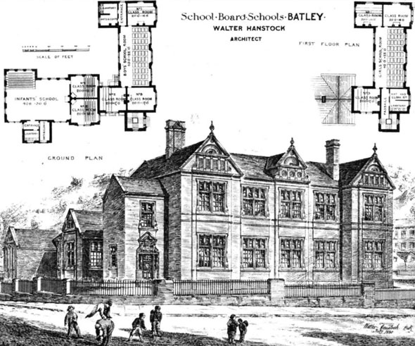 1880 schools batley yorkshire architecture of