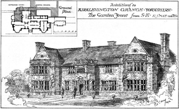 1892 &#8211; Additions to Kirklevington Grange, Yorkshire
