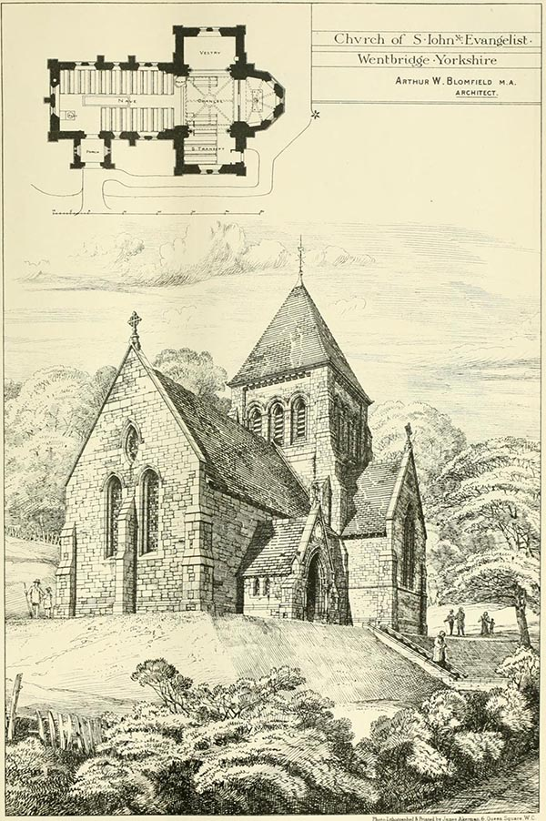 1879 &#8211; Church of St. John the Evangelist, Wentbridge, Yorkshire