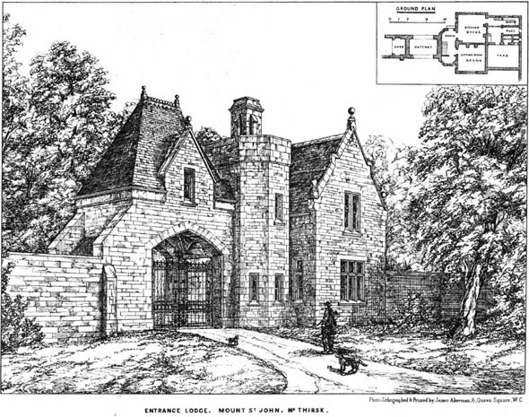 1877 – Entrance Lodge, Mount St. John, Yorkshire