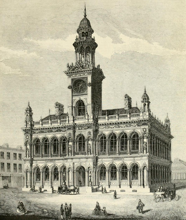 1862 &#8211; New Town Hall, Kingston upon Hull, Yorkshire