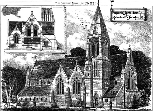 1881 &#8211; Proposed Church, Nr. Rotherham, Yorkshire