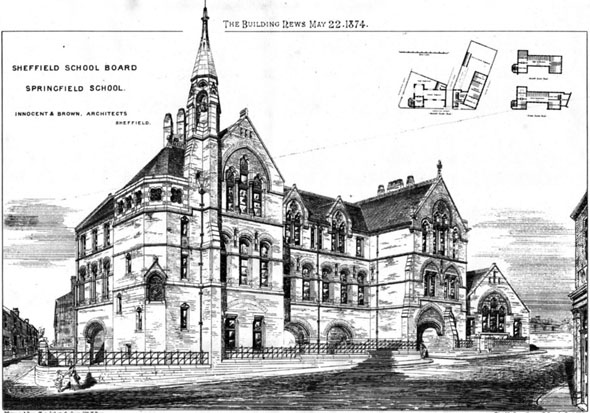 1874 &#8211; Springfield School, Sheffield, Yorkshire