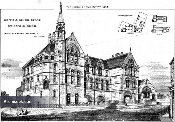 1874 – Springfield School, Sheffield, Yorkshire