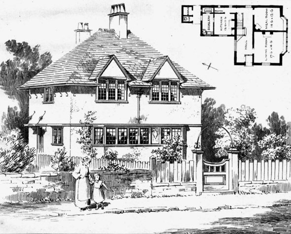1906 &#8211; House at Scalby, Yorkshire