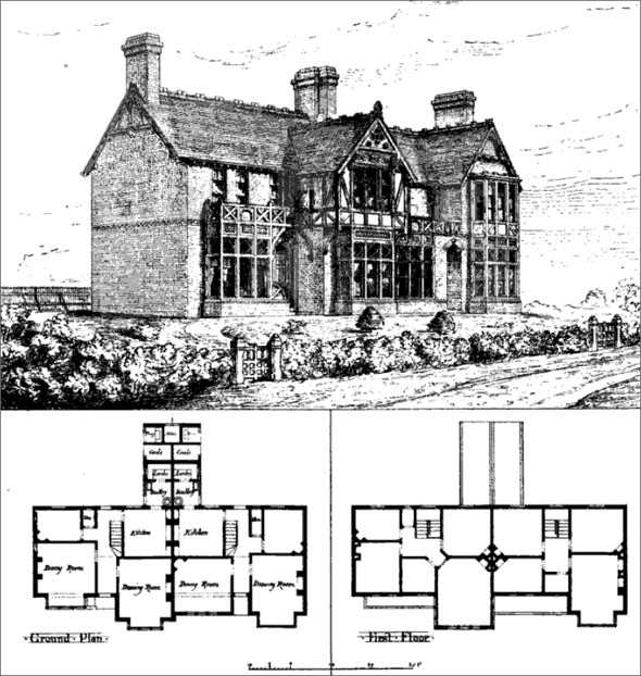 1875 – Two Country Houses, Ormesby, Yorkshire