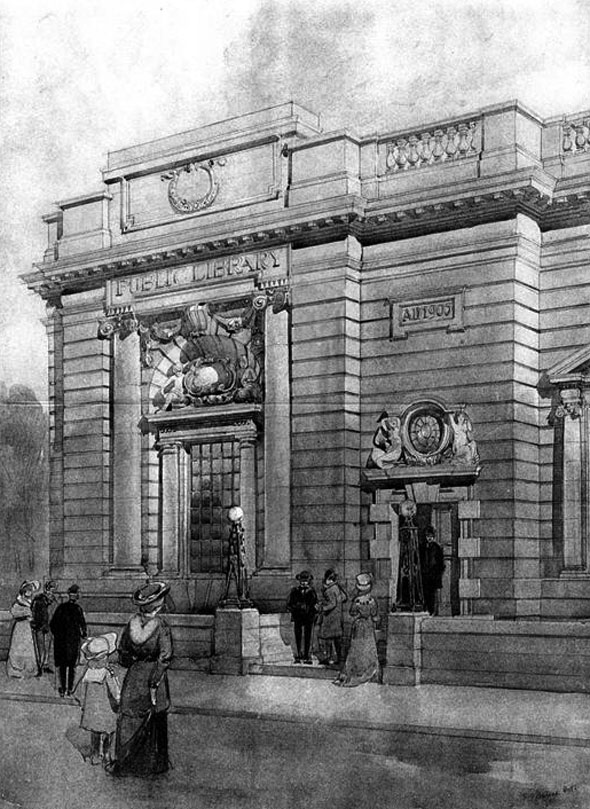 1905 &#8211; Public Library, Harrogate, Yorkshire