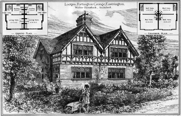 1883 &#8211; Lodges at Portington Grange, Eastrington, Yorkshire