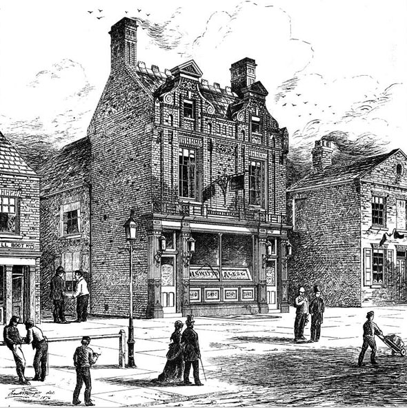 "1877 – ""Bird in Hand"" Inn, Kingston upon Hull, Yorkshire"