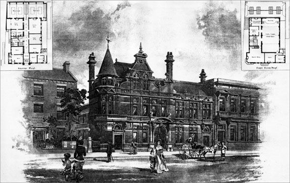 1887 – Constitutional Club Buildings, Scarborough, Yorkshire