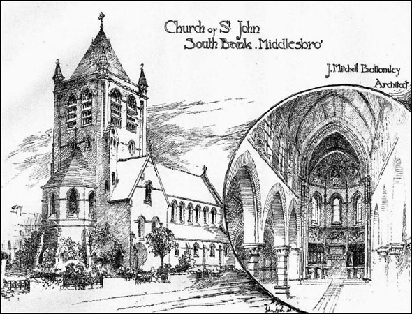 1887 – Church of St. John,  South Bank, Middlesbrough, Yorkshire