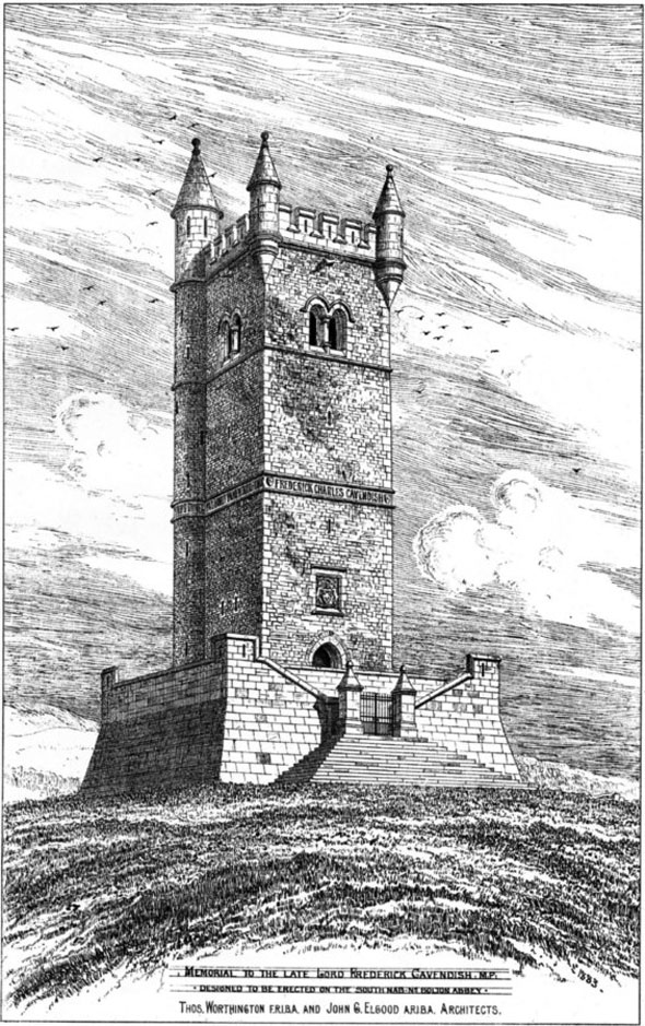 1884 – Cavendish Memorial Tower, Bolton Abbey, Yorkshire