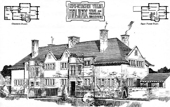 1902 &#8211; Semi-Detatched Villas, Halifax, Yorkshire