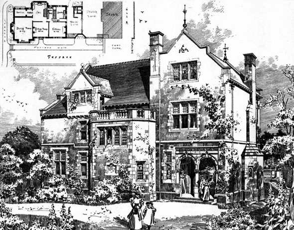 1897 – House at Lightcliffe, Yorkshire