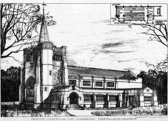 1896 &#8211; Proposed Church on the Cliff, Scarborough, Yorkshire