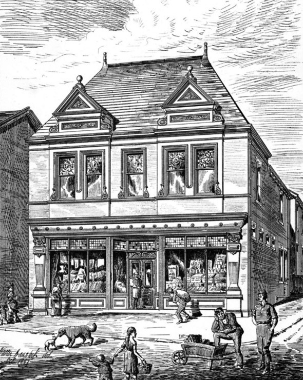 1888 &#8211; Co-operative Society Store, Batley, Yorkshire