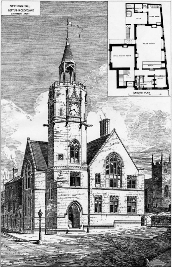 1879 &#8211; New Town Hall, Loftus, Yorkshire
