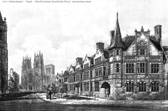 1895 – New Buildings, Duncombe Place, York