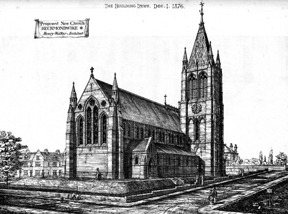 1876 – Proposed New Church, Heckmondwike, Yorkshire