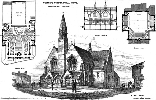 1876 &#8211; Westgate Congregational Church, Cleckheaton, Yorkshire