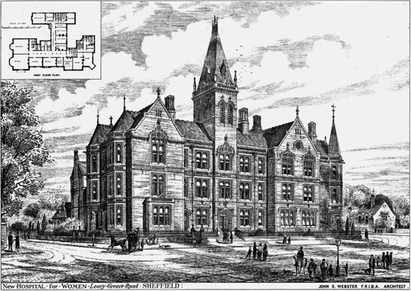1876 – New Hospital for Women, Sheffield, Yorkshire