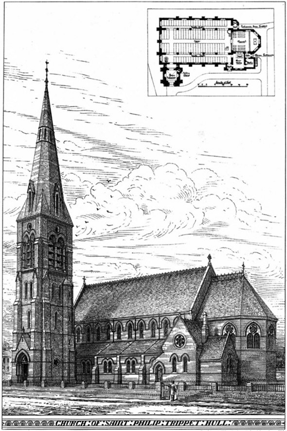 1882 &#8211; Church of St.Phillip, Trippet, Kingston upon Hull, Yorkshire