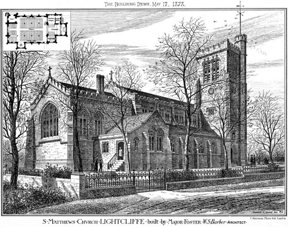 1875 – St. Matthews Church, Lightcliffe, Yorkshire