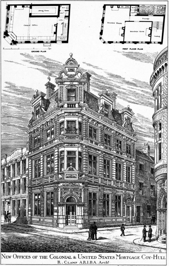 1886 – The Colonial & United States Mortgage Company, 67 Whitefriargate, Hull, Yorkshire